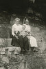 Labeled Mrs. (Frank) Howard, James and Auntie Belle Cunningham.